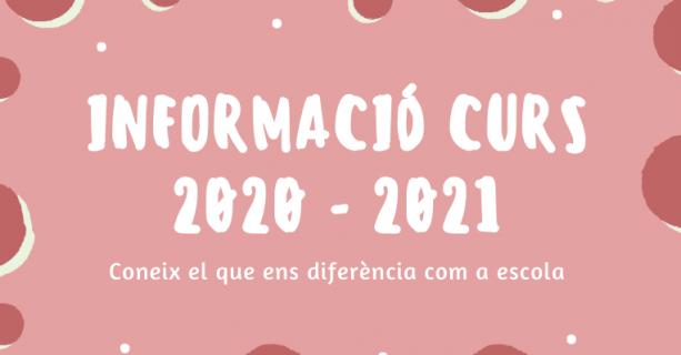 INFORMACIÓ I MATRICULACIÓ CURS 2020-2021 (Actualitzat)