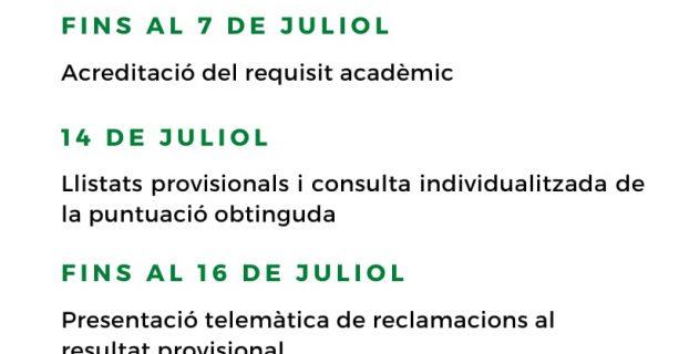 PROCÉS D'ADMISSIÓ CURS 2021-2022